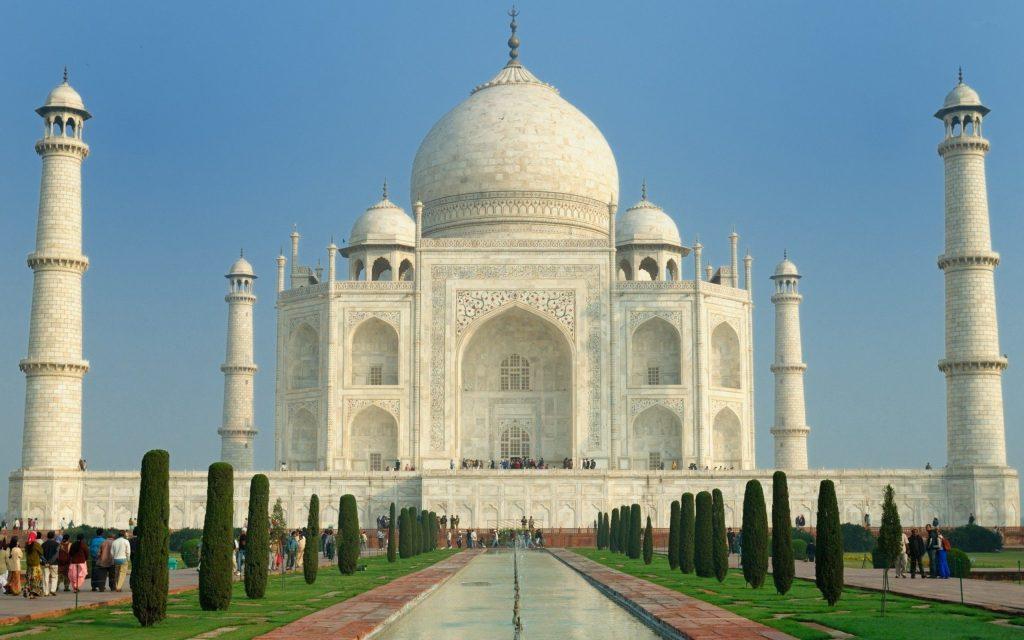 Taj Mahal em Agra, na India.