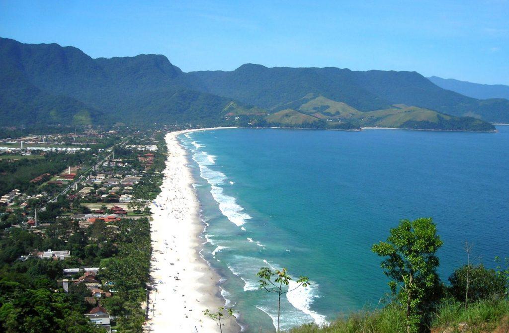 Praia de Boiçucanga em São Sebastião